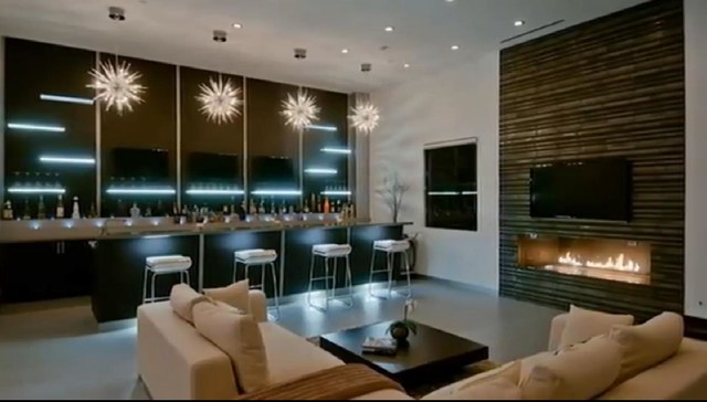 Luxury Modern House in Hollywood Hills - Contemporary - Living Room ...