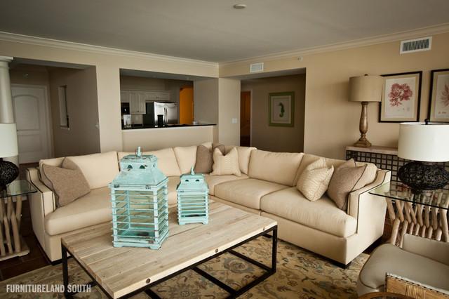 Luxury Oceanfront Condo contemporary-living-room