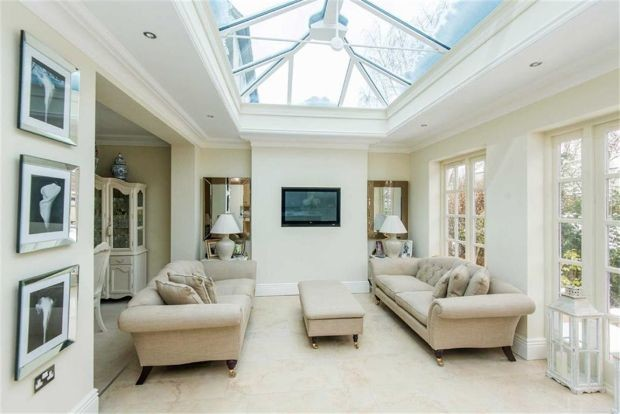 Luxury orangery extension for Living room extension ideas