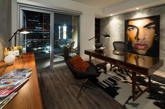Penthouse Loft Contemporary Home Office Los Angeles