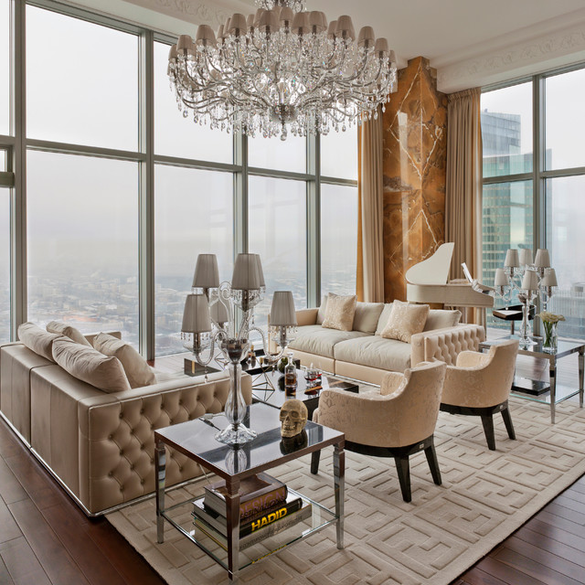 cool modern luxury penthouse living room | Luxury Penthouse - Contemporary - Living Room - New York ...