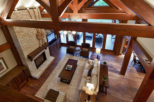 Luxury Timber Frame Traditional Living Room