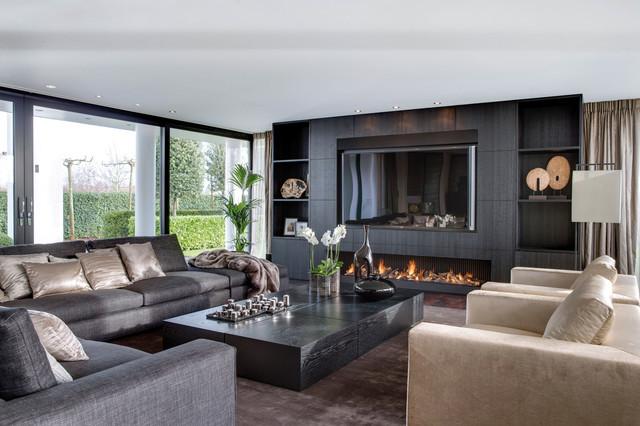 luxury villa Amsterdam The Netherlands - Contemporaneo - Soggiorno ...