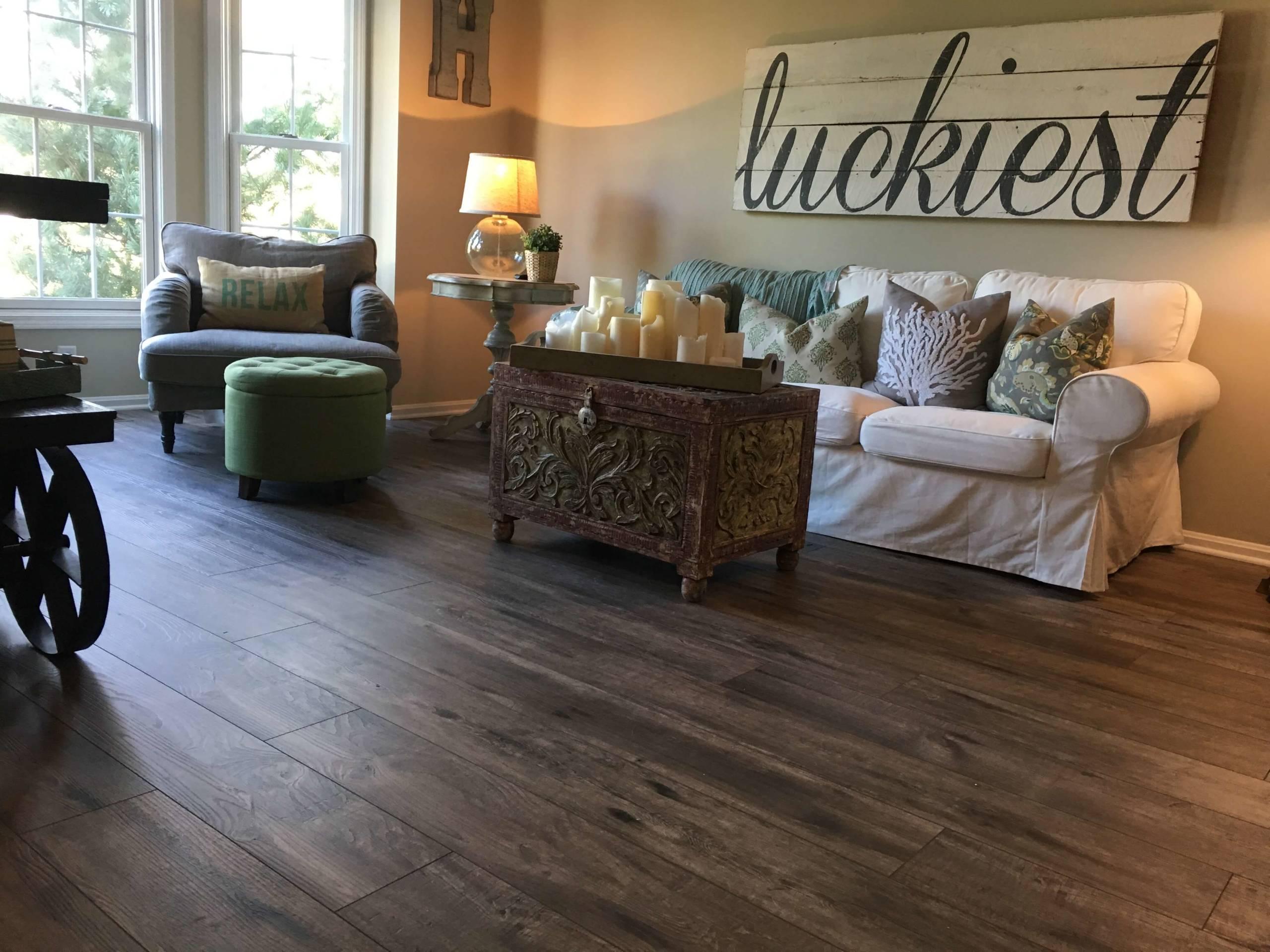 75 Beautiful Vinyl Floor Living Room