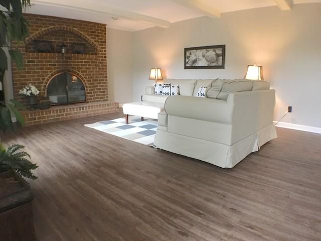 Luxury Vinyl Plank Flooring Traditional Living Room