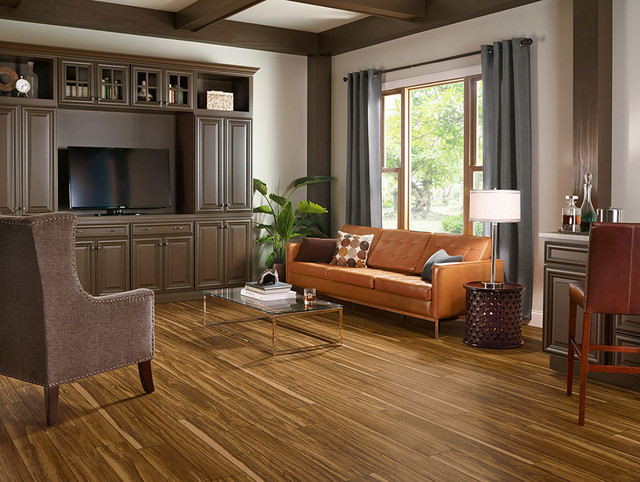 Luxury Vinyl Plank Living Room Midcentury