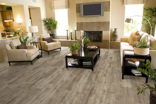 Luxury Vinyl Plank/Tile - Transitional - Living Room ...