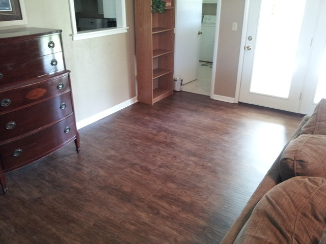 Luxury Vinyl Tile Plank Remodel Traditional Living Room Other Metro By Carpet One Floor