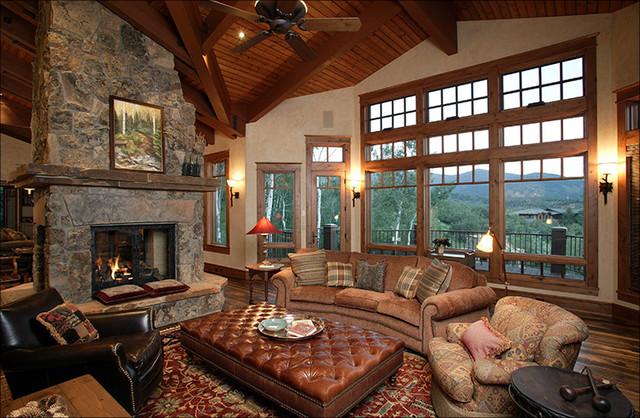 Lynne Barton Bier - Home on the Range Interiors rustic-living-room