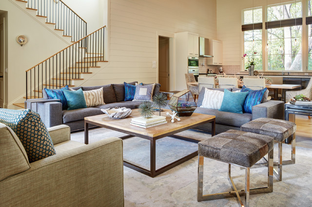 M e a d o w transitional living room austin by for W living room austin