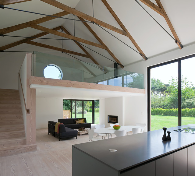 M House Contemporary Living Room Channel Islands
