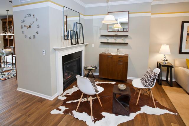 M/I Homes of Chicago: Church Street Station - Clark Model transitional-living-room
