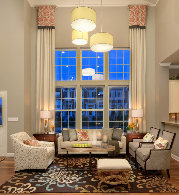 M/I Homes of Chicago: Sheffield Square Grant Park - Dearborn Model transitional-living-room