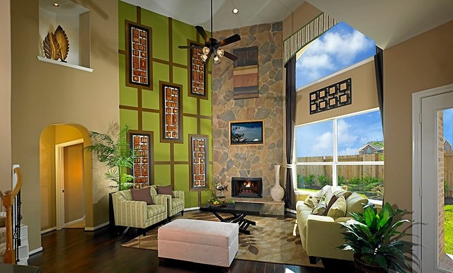 M I Homes Of Houston Contemporary Living Room