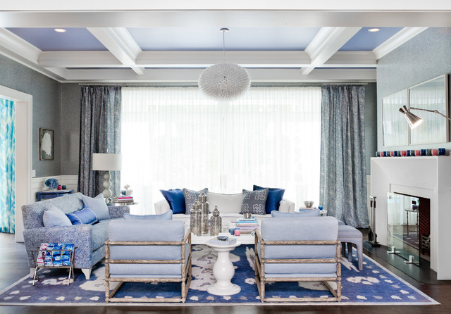 Mabley Handler Getaway To The 2013 Holiday House Hamptons Contemporary Living Room New
