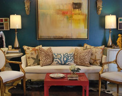 Mad for Galapagos Turquoise eclectic living room