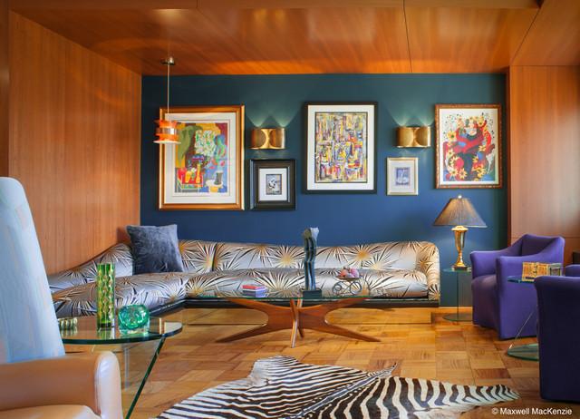 Mad men condo contemporary living room dc metro by for Mens modern living room
