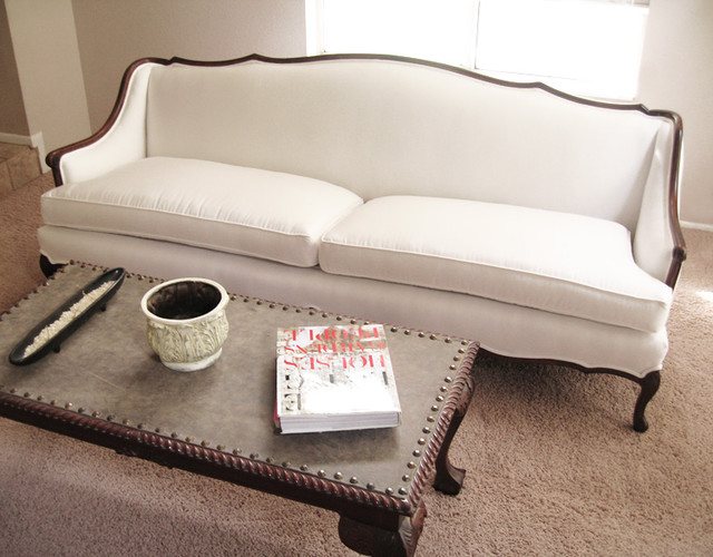 madebygirl- french provincial sofa re-upholstered
