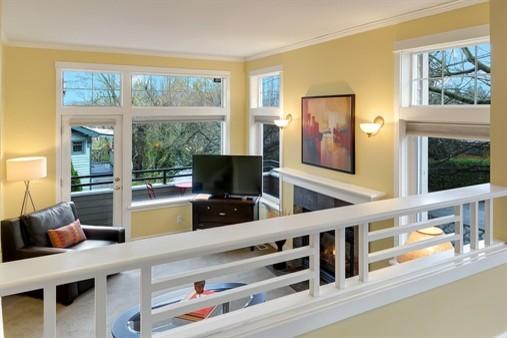 Elegant Living Room Photo In Seattle