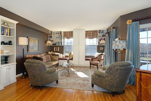 Magnificent High End Hoboken Condo Traditional Living Room New York B