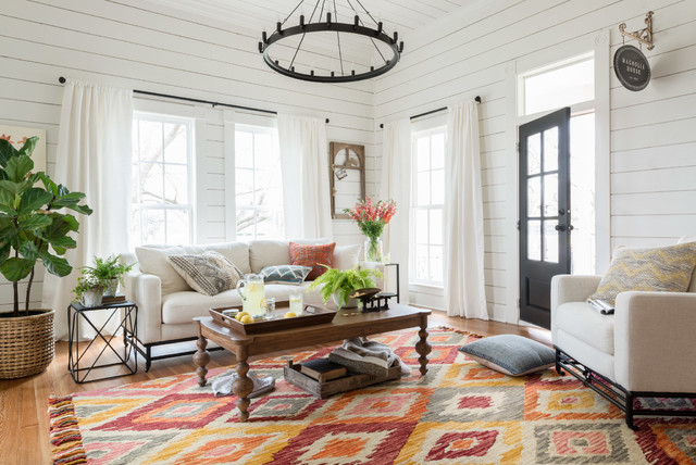 Magnolia home by joanna gaines rustic living room
