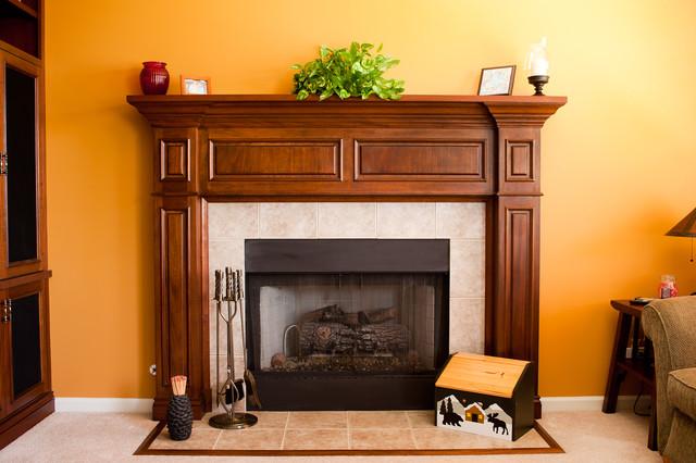 Mahogany fireplace surround traditional living room for Mahogany living room ideas