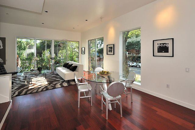 Mahogany Floors W Hollywood Ca Modern Living Room