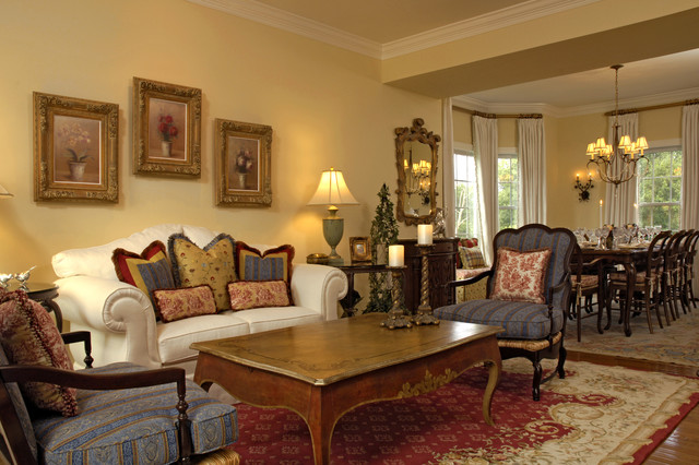 French Country Living Rooms | Mahoney French Country Living Dining Room