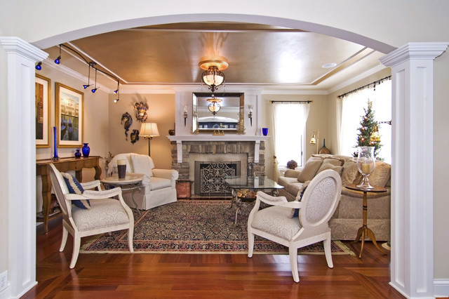 Main Level Remodel traditional living room  Traditional Living Room Minneapolis by