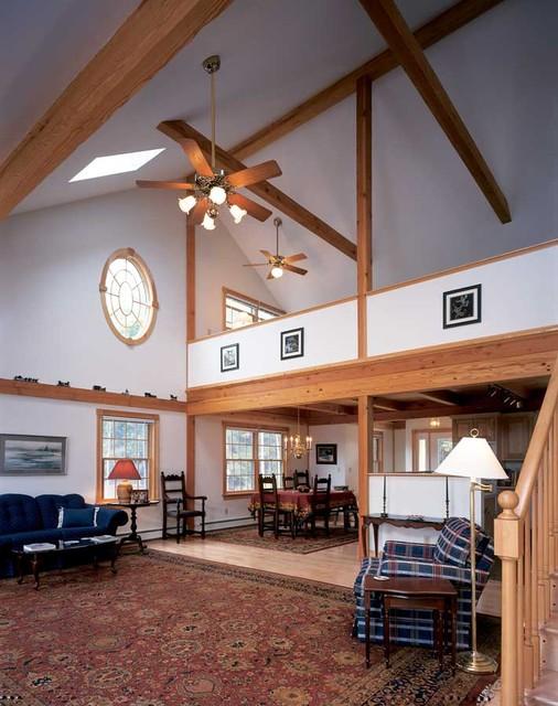 Maine Island Passive Solar living-room