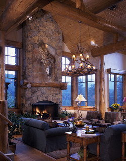 Majestic Breck Traditional Living Room Denver By