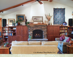 Making a Custom Home Complete craftsman-living-room