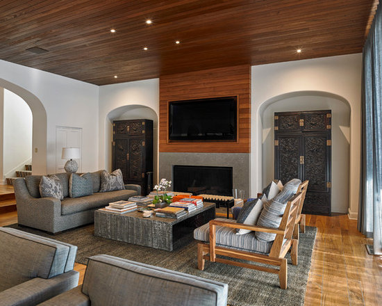 Dark wood beams home design ideas pictures remodel and decor for Table 52 townsville