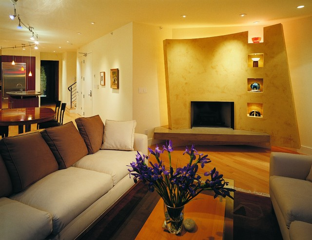 Nice Modern Living Rooms : Nice with the Neighbors-Living Room - Contemporary - Living Room ...