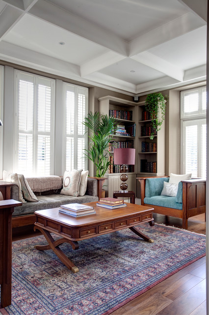 Making the most of a challenging sloping site to create for Purpose of a living room