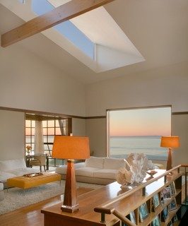 Malibu Architectural contemporary living room