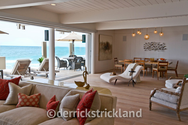Malibu beach house beach style living room los for 12x15 living room