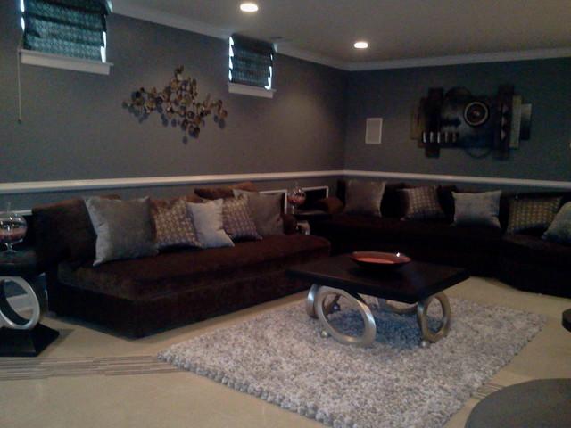 man cave basement lounge theme - contemporary - living room - dc metro