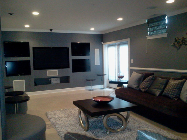 Man Cave Basement Lounge Theme Contemporary Living