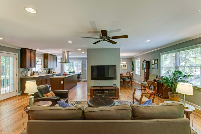 manchester kitchen transitional living room raleigh