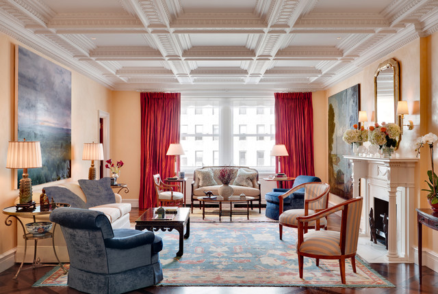 Manhattan Apartment inspired by the Federal Style traditional-living-room