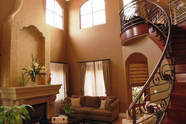 Manhattan Beach Mediterranean Home mediterranean-living-room