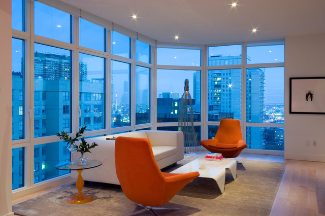 Manhattan condo modern living room new york by for Modern living room gadgets