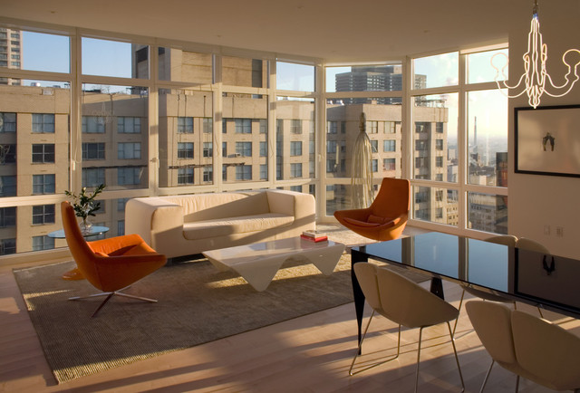 Manhattan condo modern living room new york by for Living room nyc