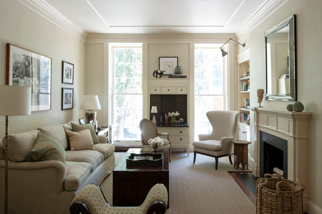 Manhattan duplex traditional living room new york for Living room decor ideas houzz