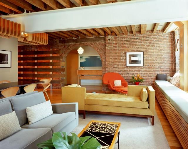 Beach Street Loft industrial-living-room