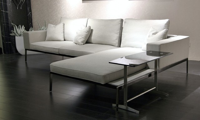 Manhattan Modern Sectional With End Table Contemporary Living Room