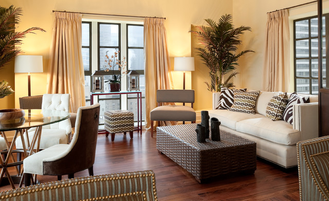 Manhattan Penthouse traditional-living-room