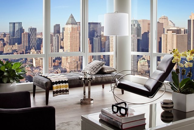 Manhattan Pied-a-Terre modern-living-room