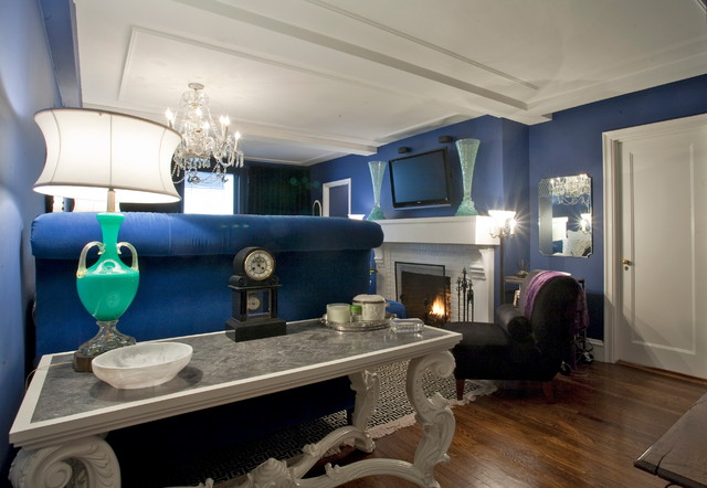 Manhattan pied a terre eclectic living room other for Pied a terre manhattan